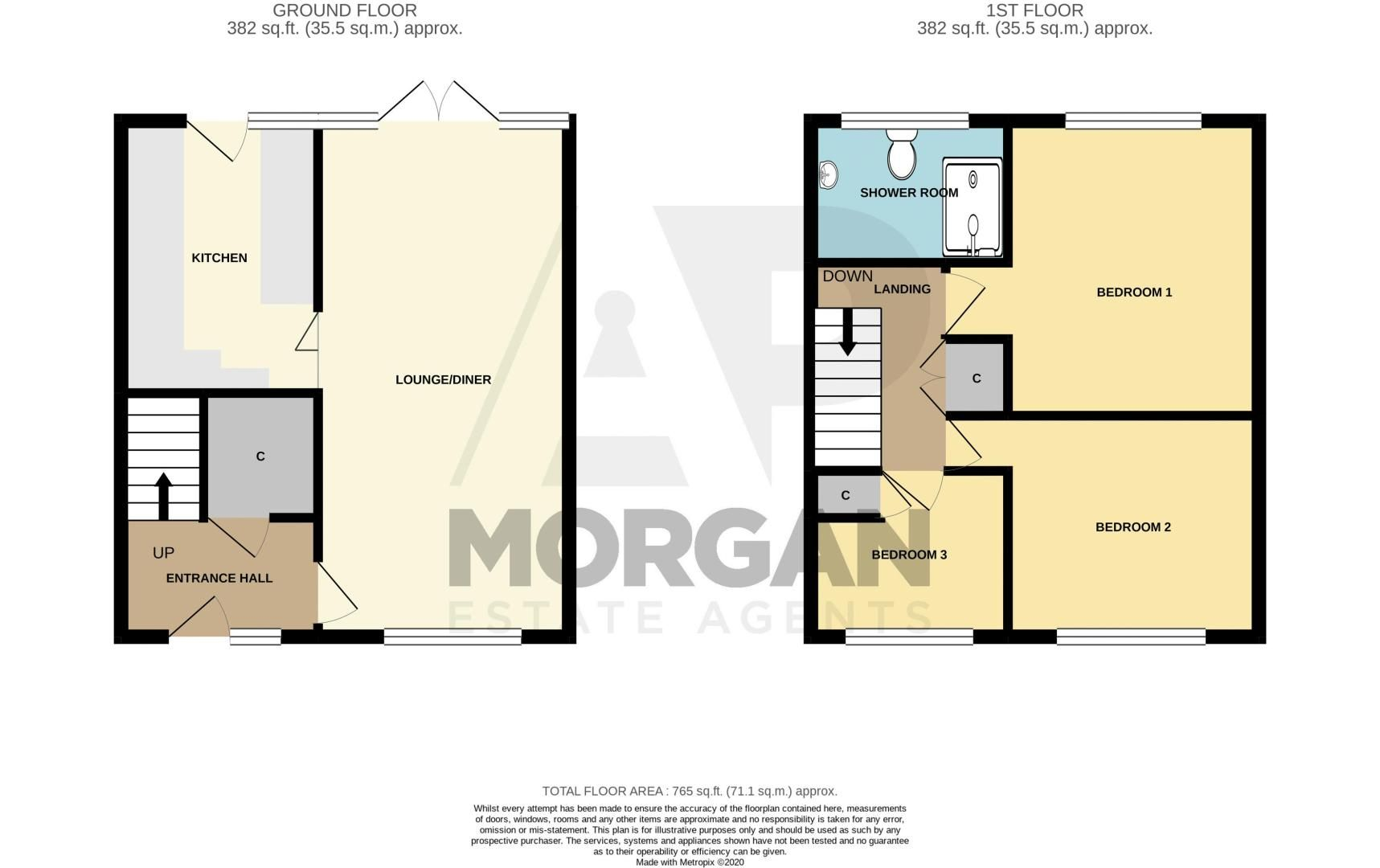 3 bed house for sale in Hartfields Way - Property Floorplan