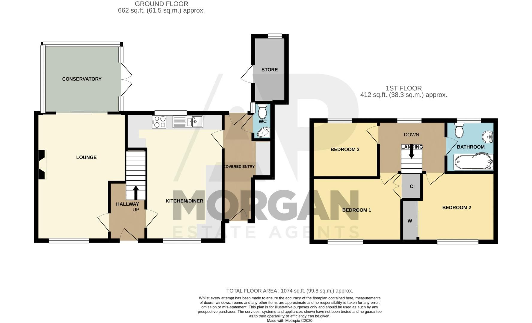 3 bed house for sale in Humphrey Avenue - Property Floorplan