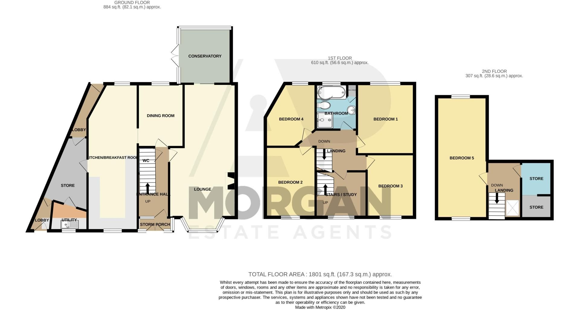 5 bed house for sale in Springfield Road - Property Floorplan