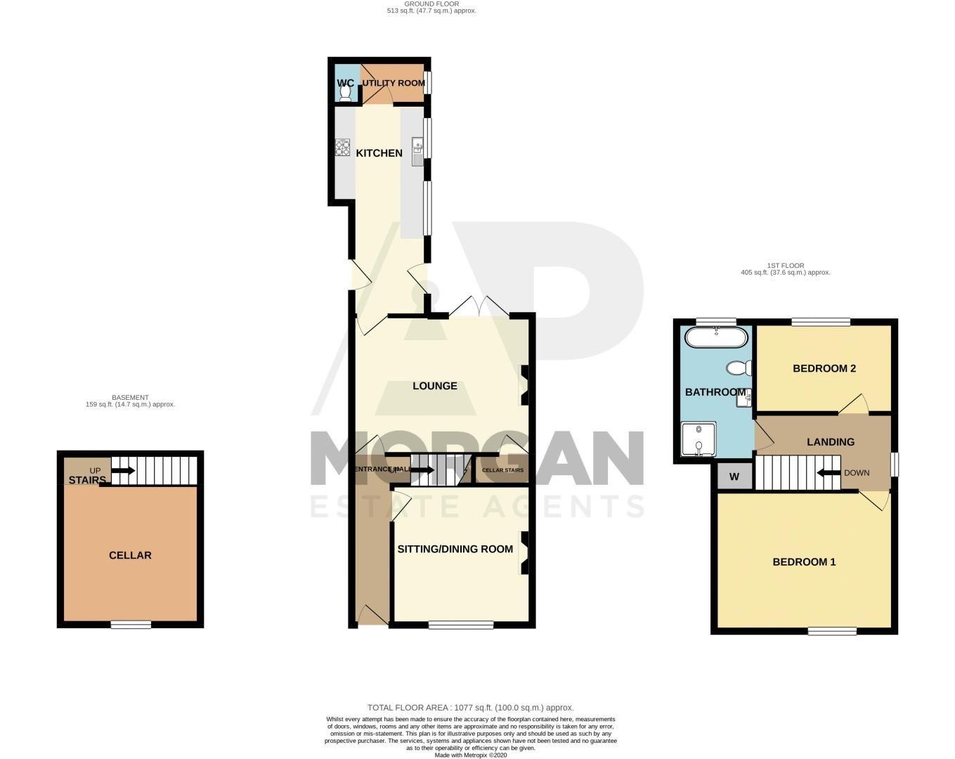 2 bed house for sale in Swan Street - Property Floorplan
