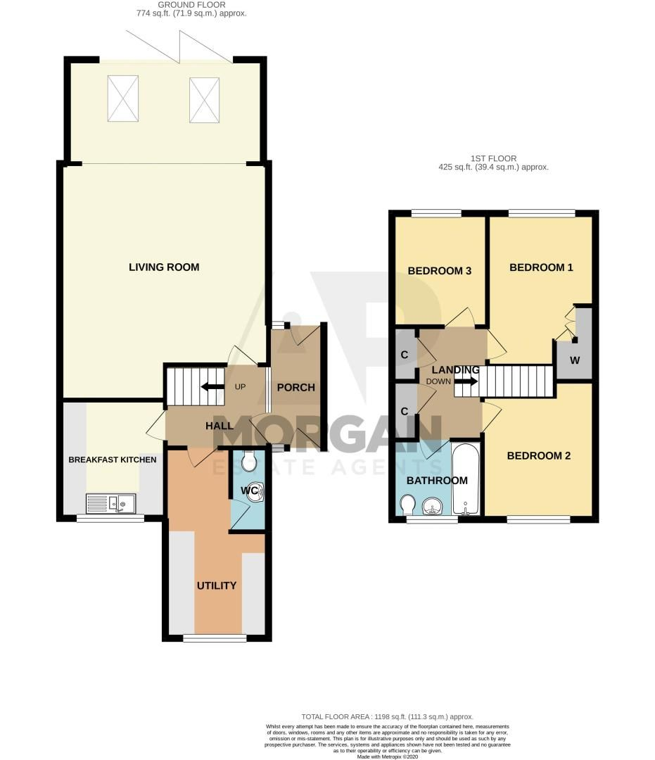 3 bed house for sale in Providence Road - Property Floorplan