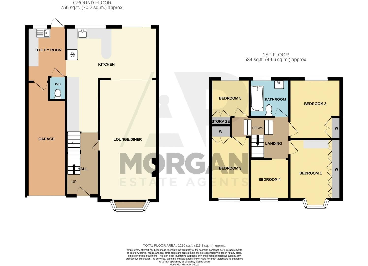 5 bed house for sale in Forge Mill Road - Property Floorplan