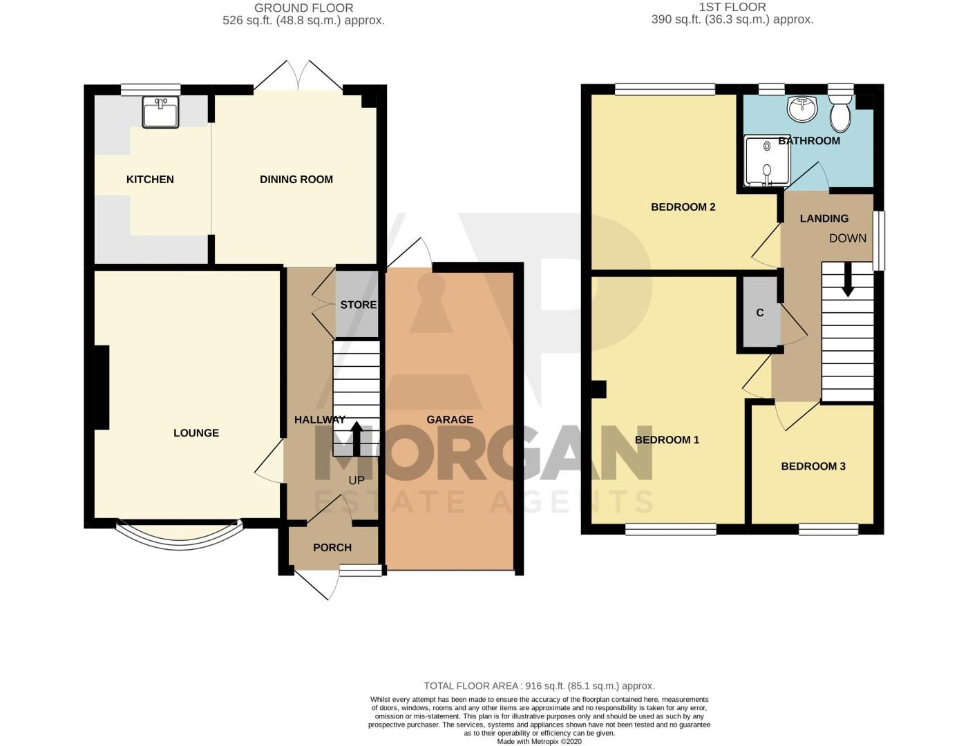 3 bed house for sale in Byland Close - Property Floorplan
