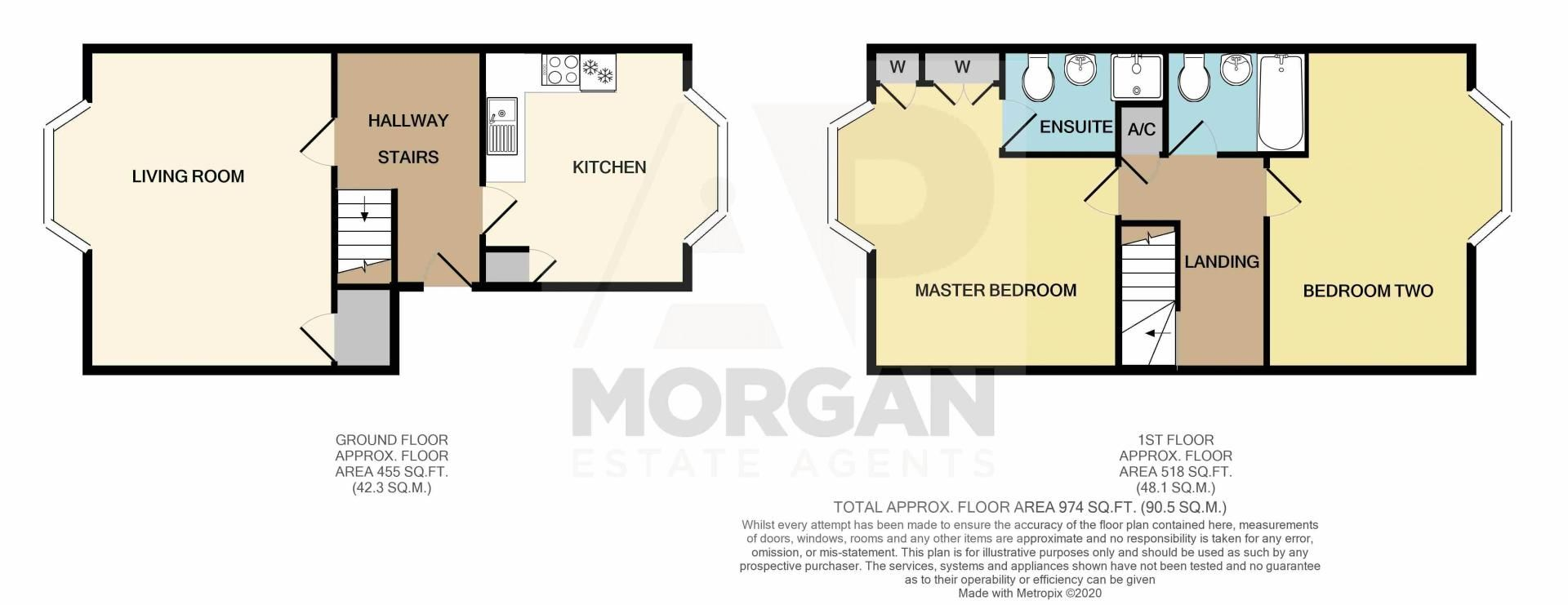 2 bed flat for sale in Hewell Road - Property Floorplan