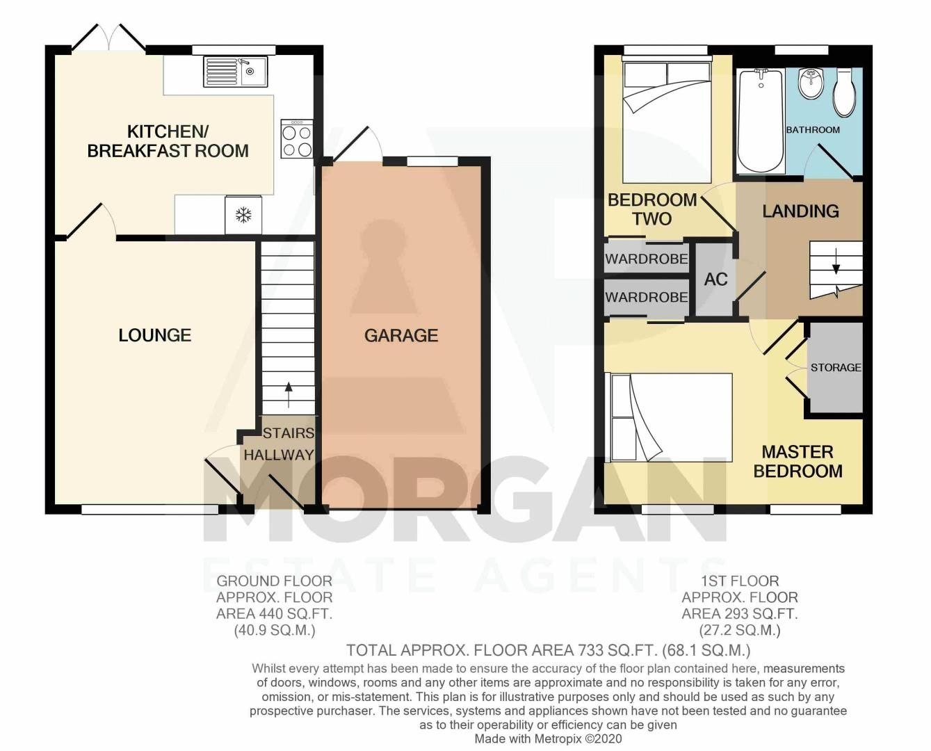 2 bed house for sale in Stoneleigh Close - Property Floorplan