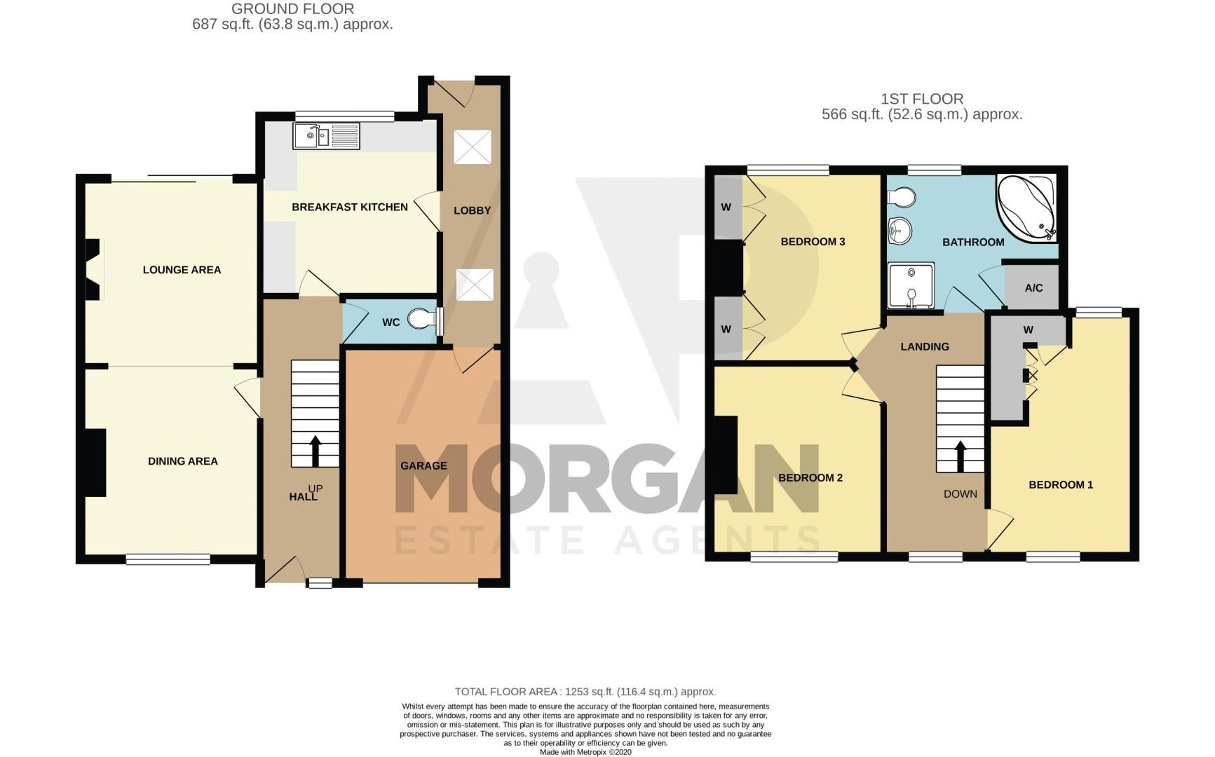 3 bed house for sale in Corser Street - Property Floorplan
