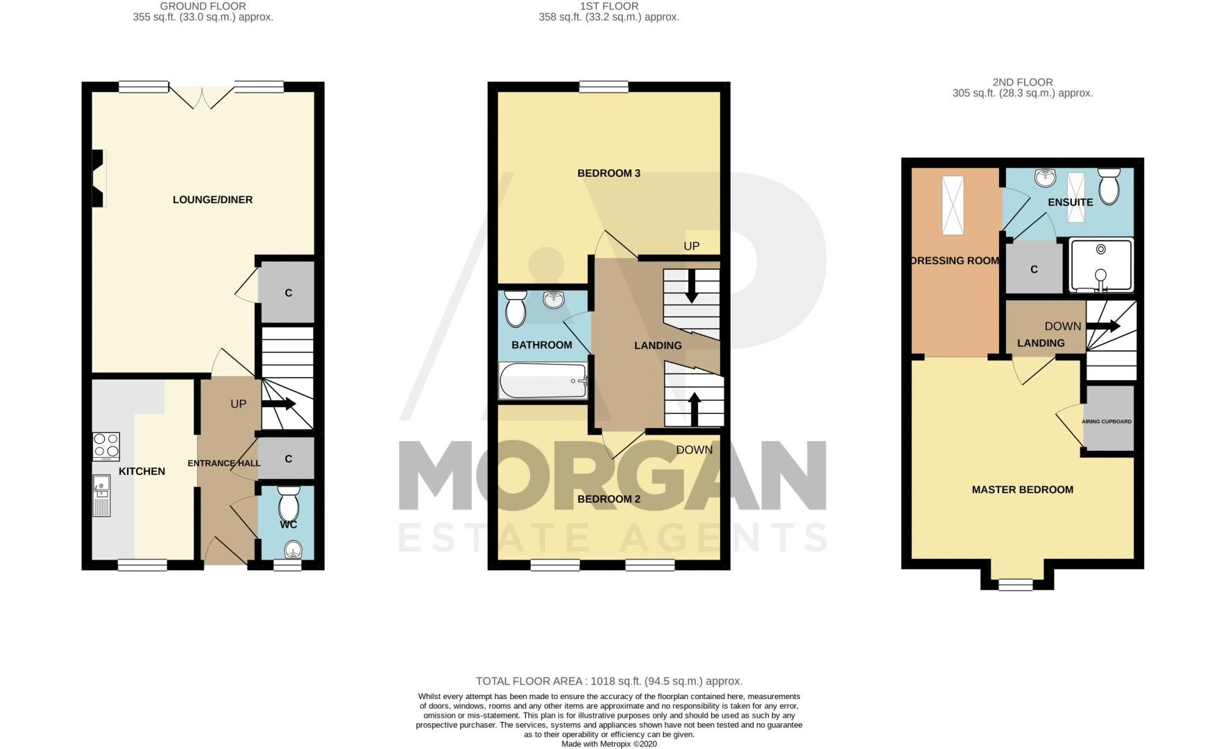3 bed  for sale in Powke Lane - Property Floorplan