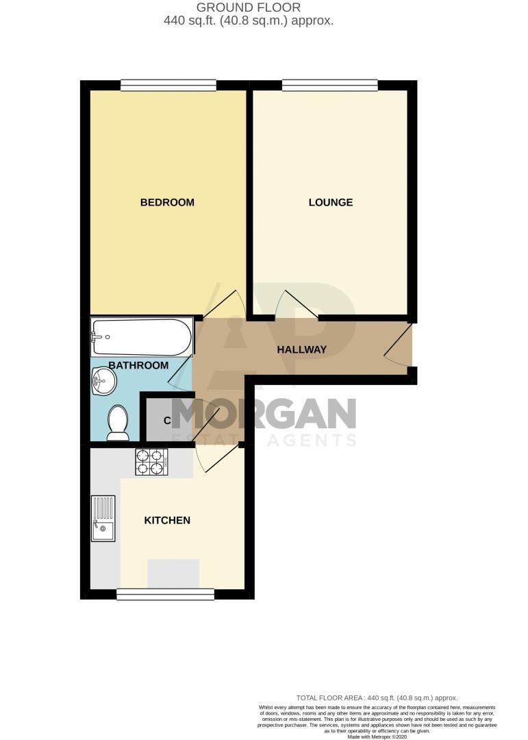 1 bed flat for sale in Burcot Lane - Property Floorplan