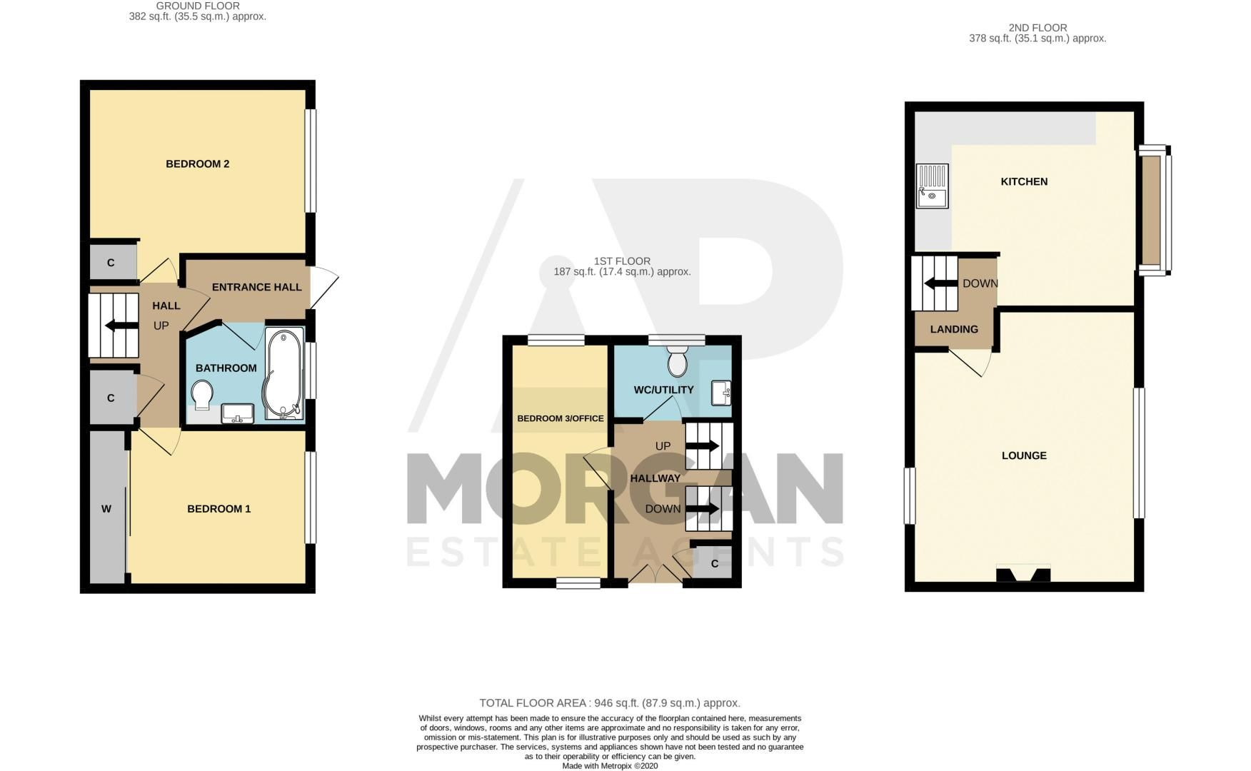 3 bed house for sale in Greenlands Avenue - Property Floorplan