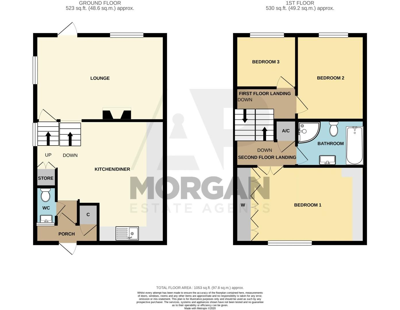 3 bed house for sale in Wirehill Drive - Property Floorplan