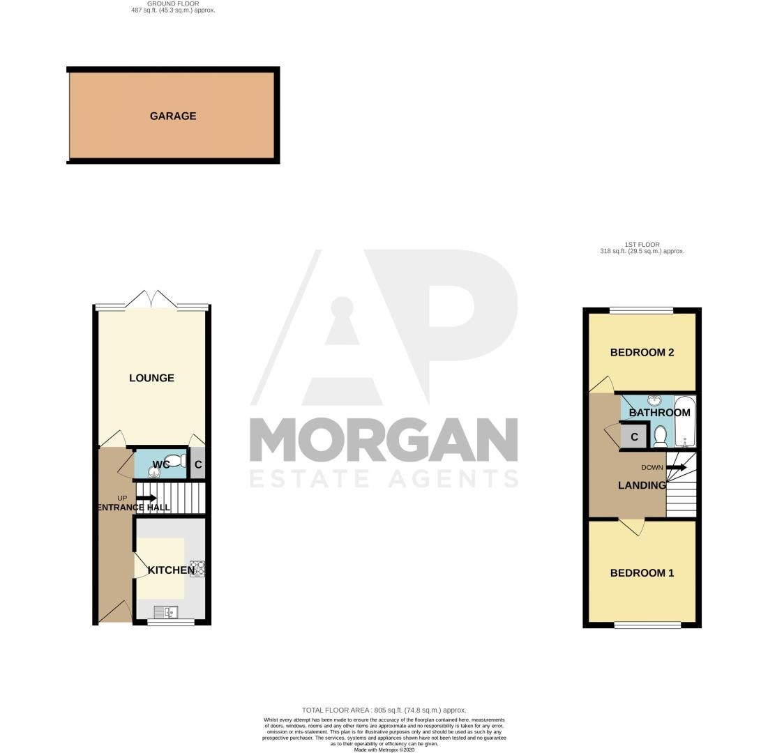 2 bed house for sale in St. Lukes Street - Property Floorplan