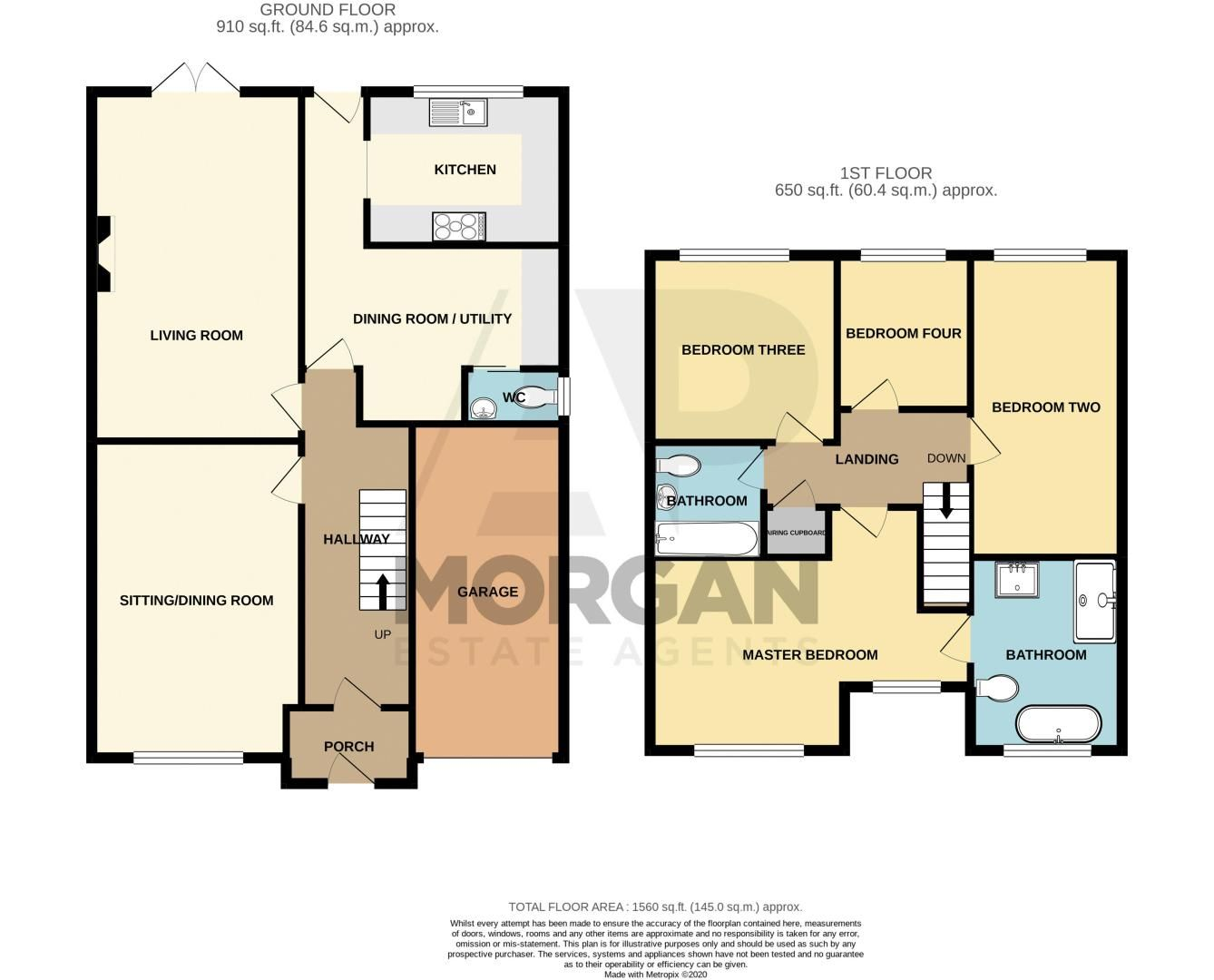 4 bed house for sale in Roman Way - Property Floorplan
