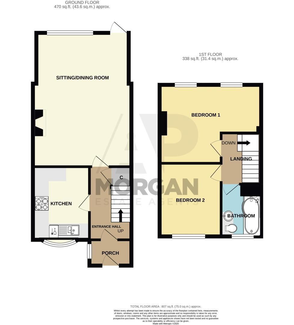 2 bed cottage for sale in Astwood View Cottages, Causeway Meadows - Property Floorplan