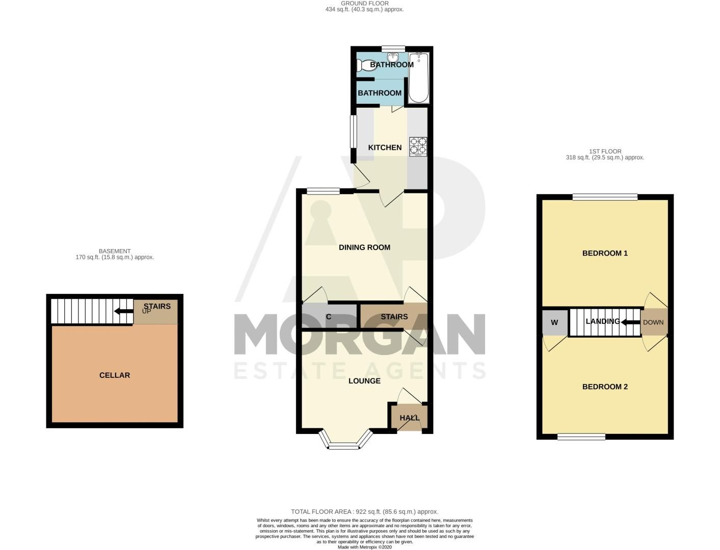 2 bed house for sale in Brook Street - Property Floorplan