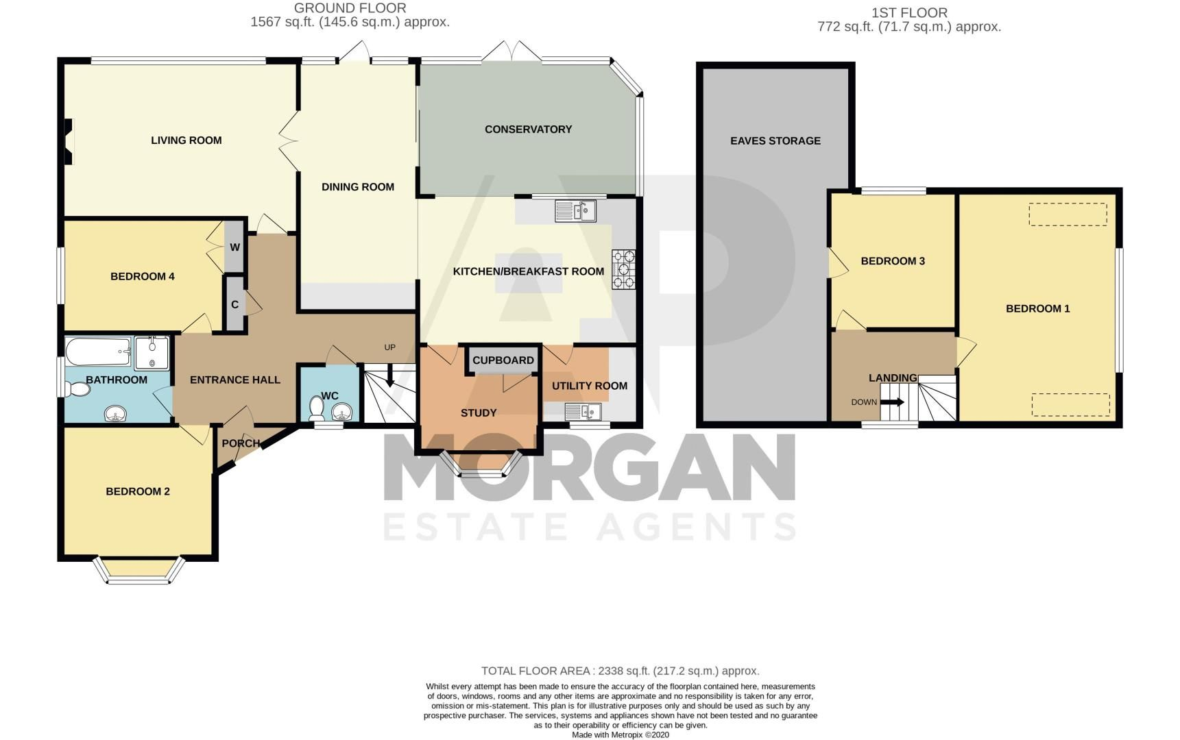 4 bed bungalow for sale in Alcester Road - Property Floorplan