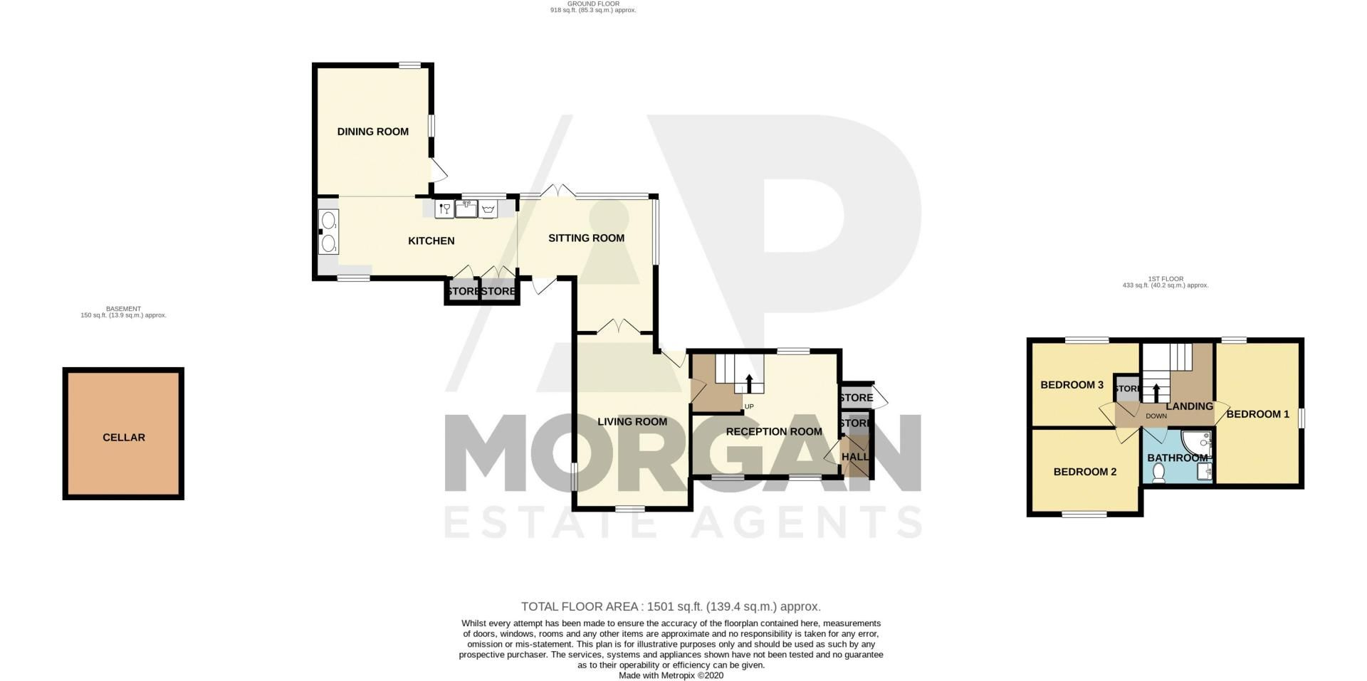 3 bed house for sale in Needle Mill Lane - Property Floorplan