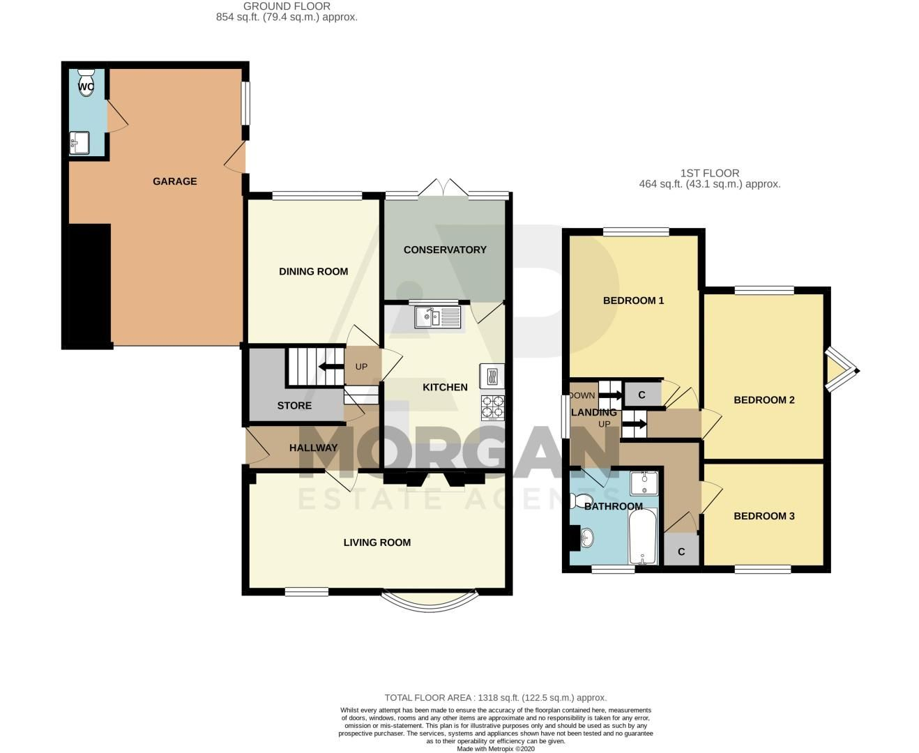 3 bed cottage for sale in Fairfield Road - Property Floorplan