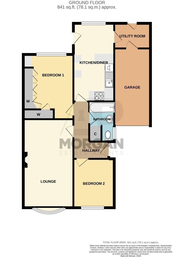 2 bed bungalow for sale in Hungerford Road - Property Floorplan
