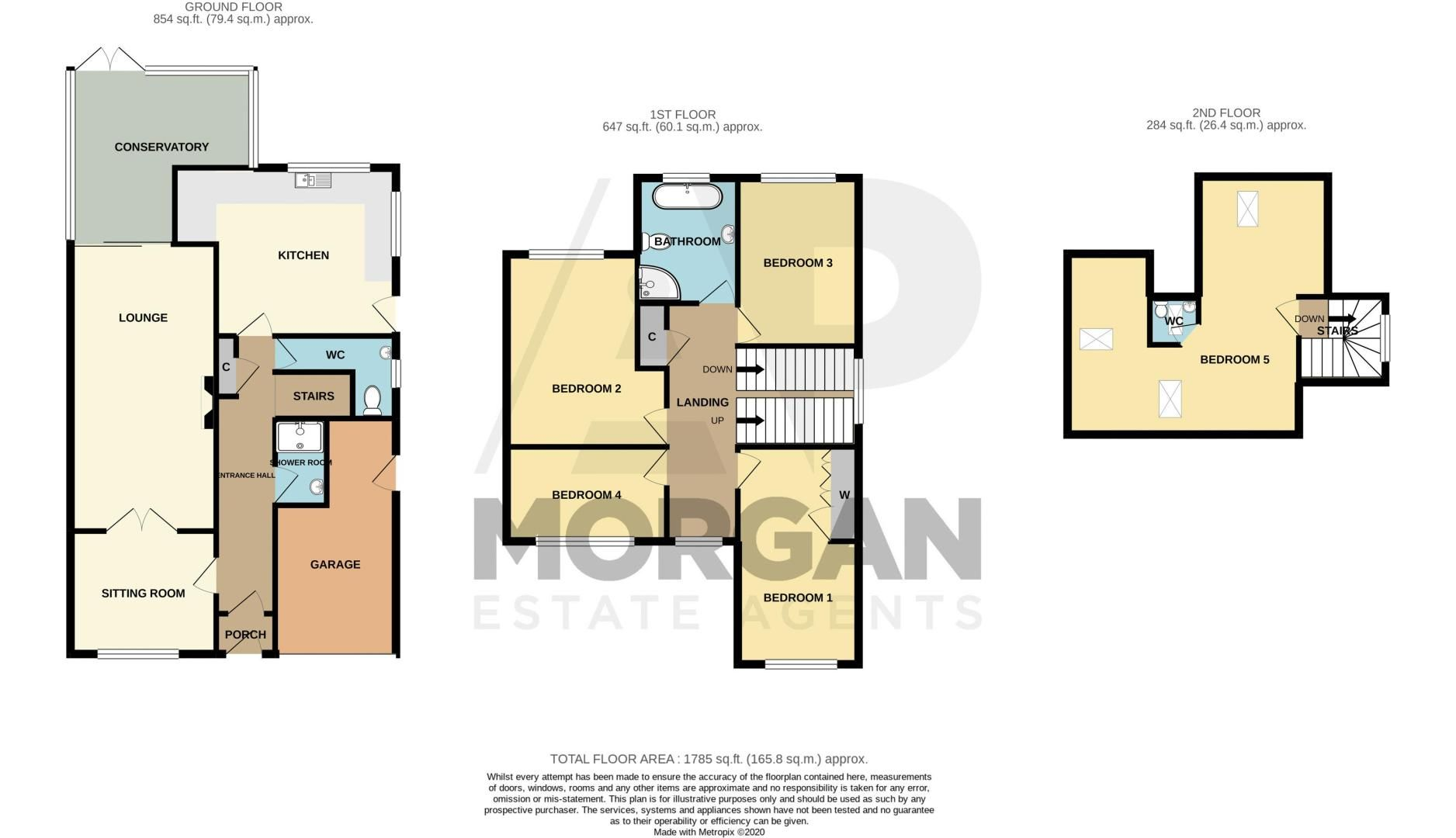 5 bed house for sale in Longlands Road - Property Floorplan