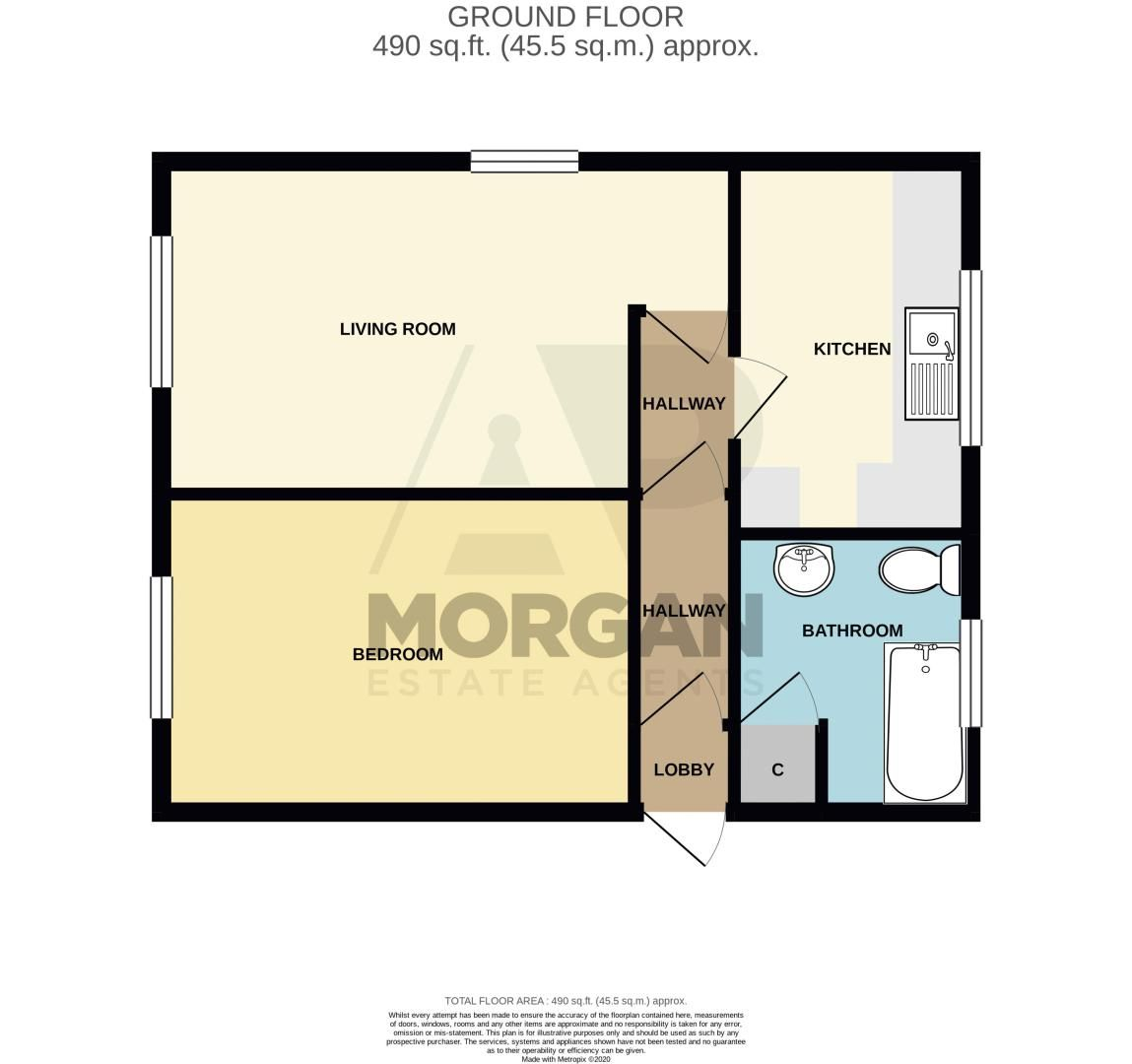1 bed flat for sale in Burcot Lane - Property Floorplan