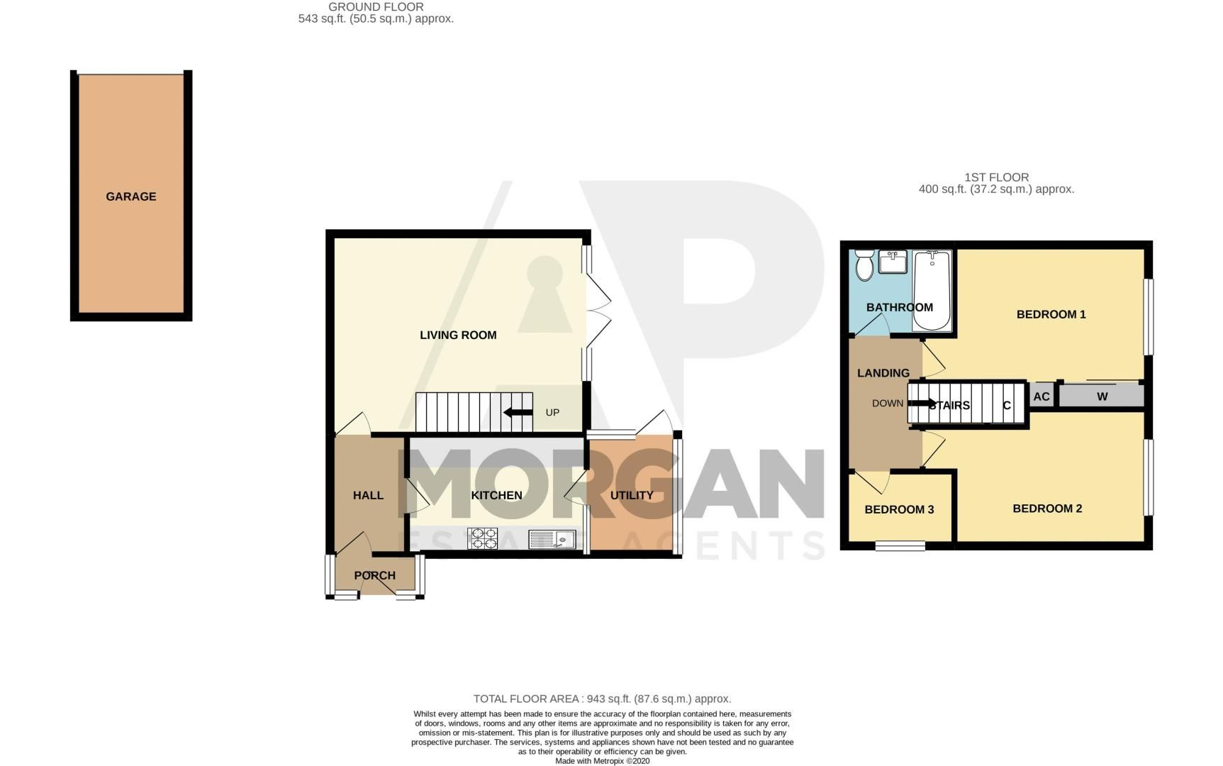 3 bed house for sale in Pembridge Close - Property Floorplan