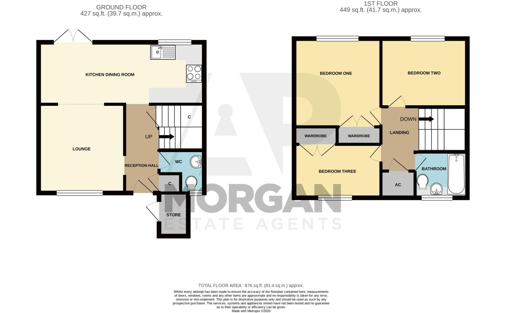 3 bed house for sale in Fulbrook Close - Property Floorplan