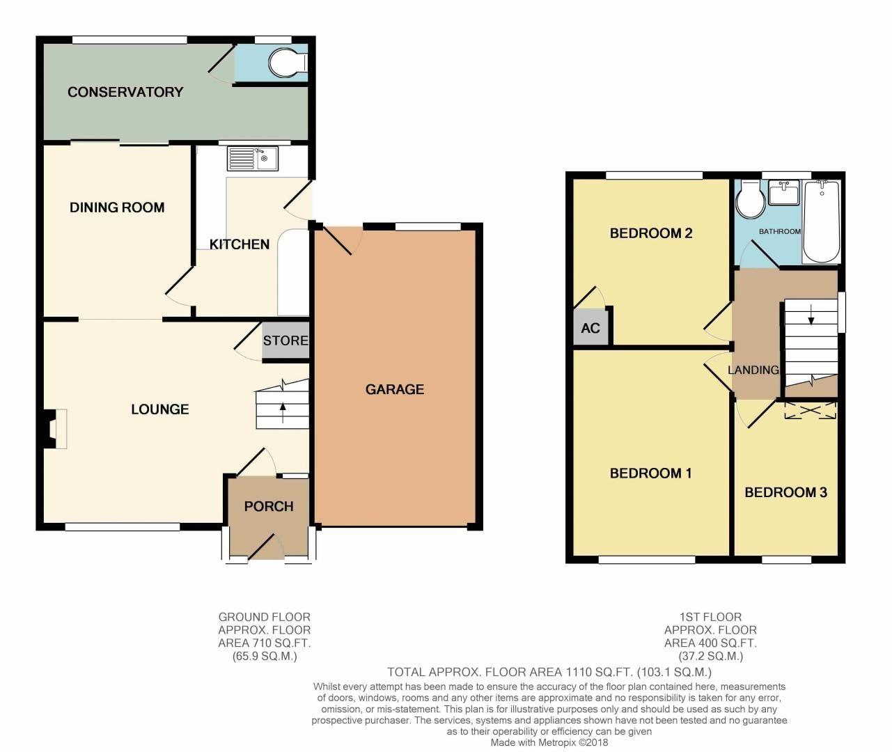 3 bed house for sale in Littleheath Lane - Property Floorplan