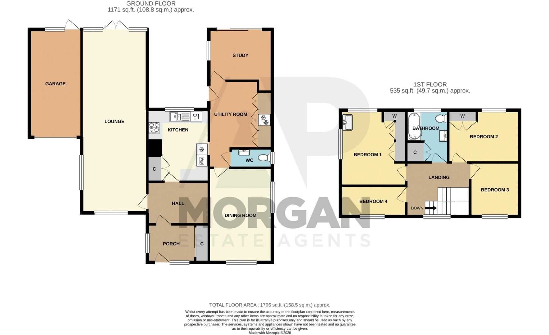 4 bed house for sale in Tennyson Road - Property Floorplan