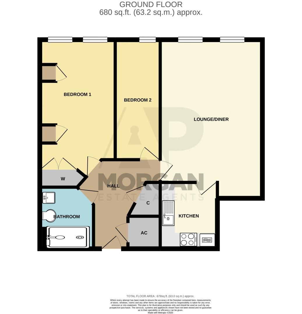 2 bed flat for sale in College Road - Property Floorplan