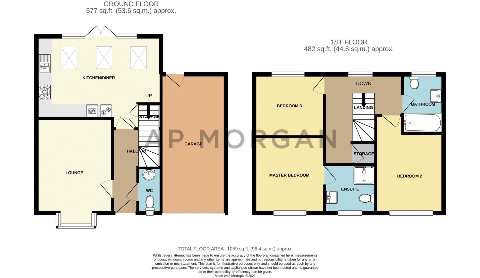 3 bed house for sale in Denby Way - Property Floorplan