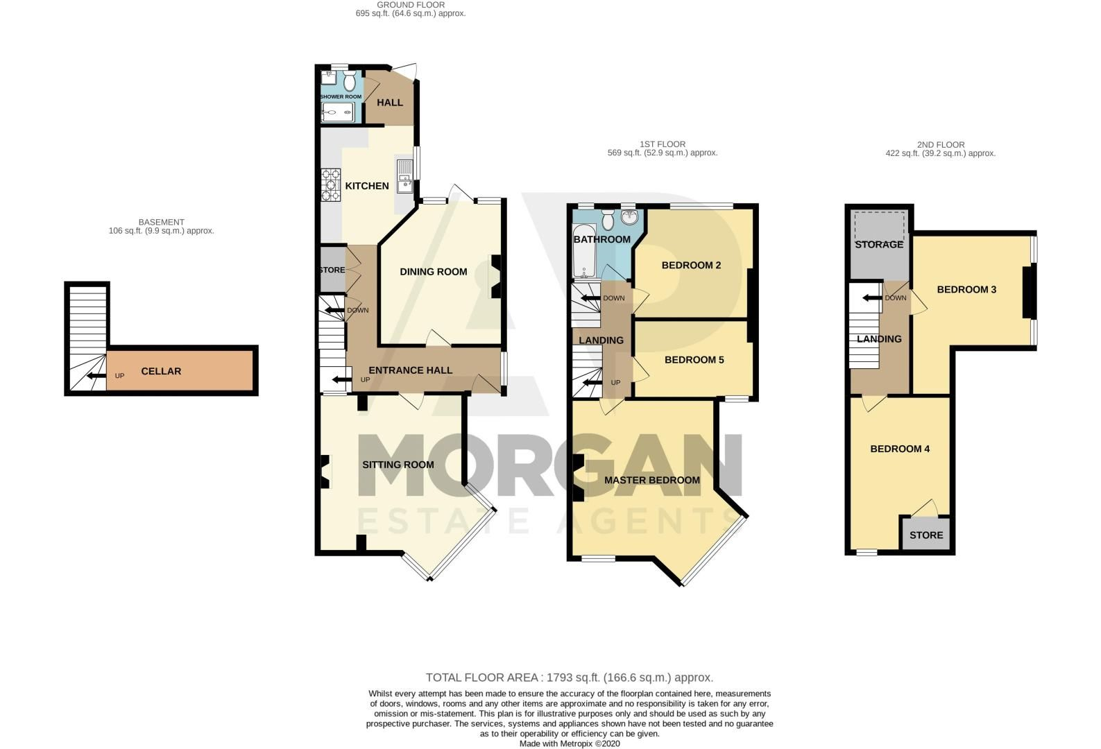 5 bed house for sale in Red Hill - Property Floorplan