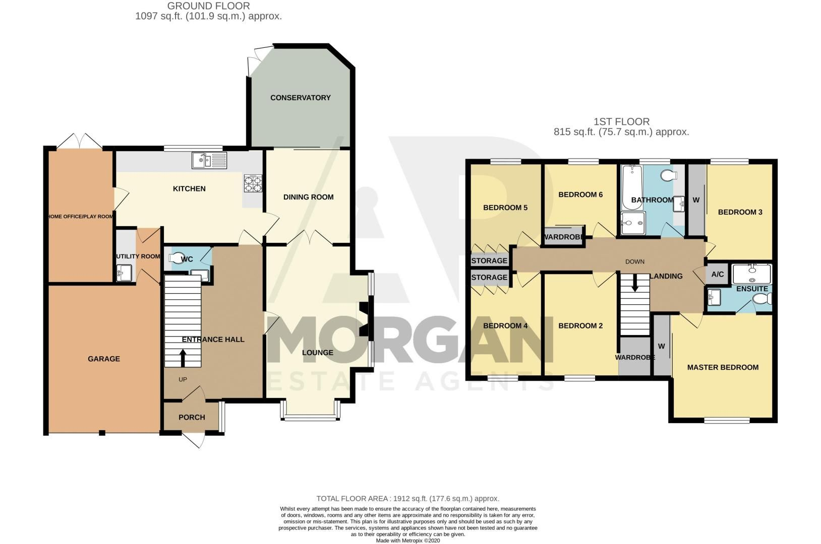 6 bed house for sale in Priest Meadow Close - Property Floorplan