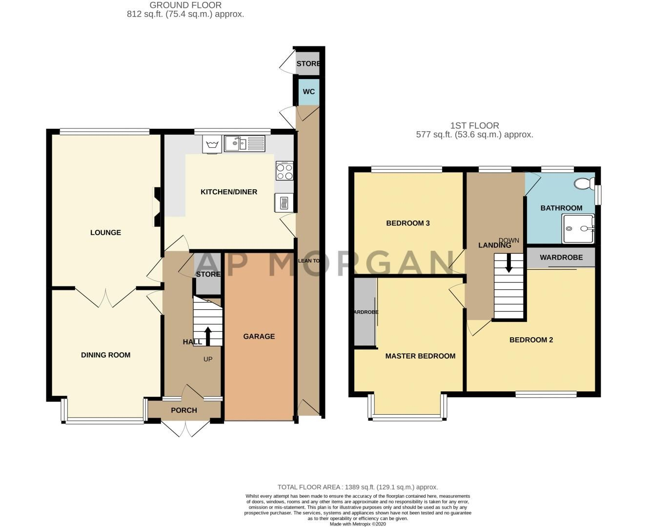 3 bed house for sale in Drew Crescent - Property Floorplan