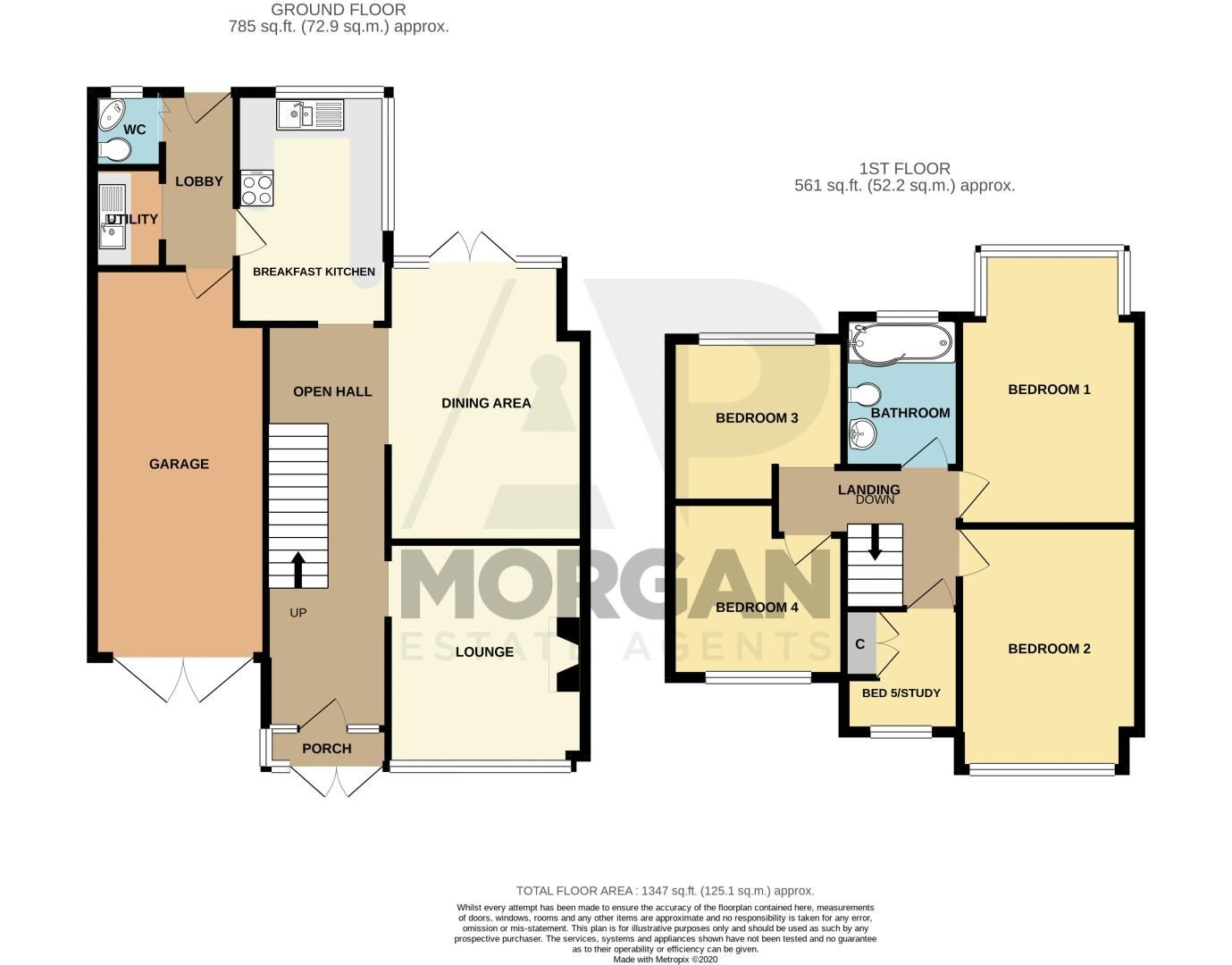5 bed house for sale in Bell End - Property Floorplan