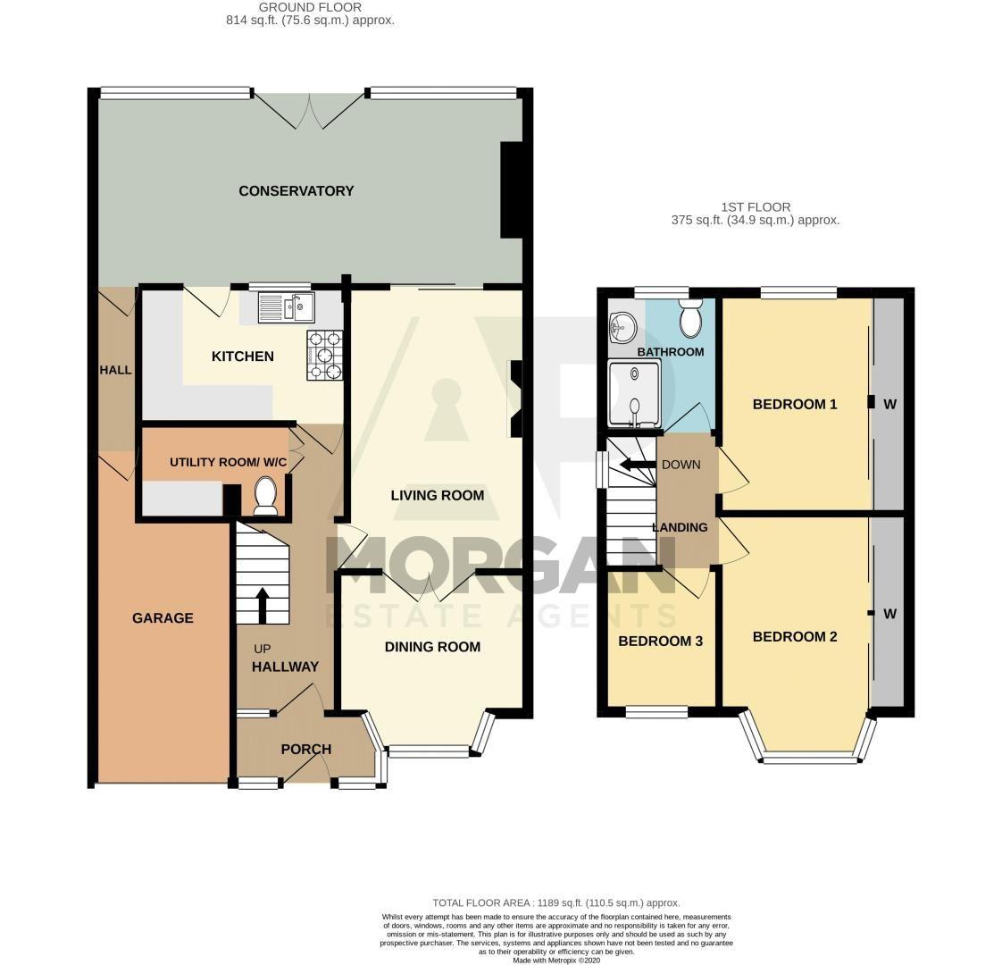 3 bed house for sale in Golden Cross Lane - Property Floorplan