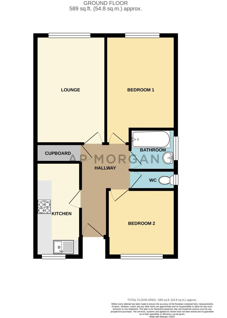 2 bed flat for sale in Stourbridge Road - Property Floorplan