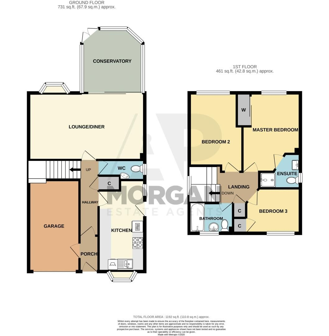 3 bed house for sale in Green Park Road - Property Floorplan