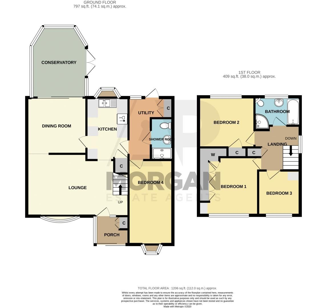 4 bed house for sale in Hopgardens Avenue - Property Floorplan