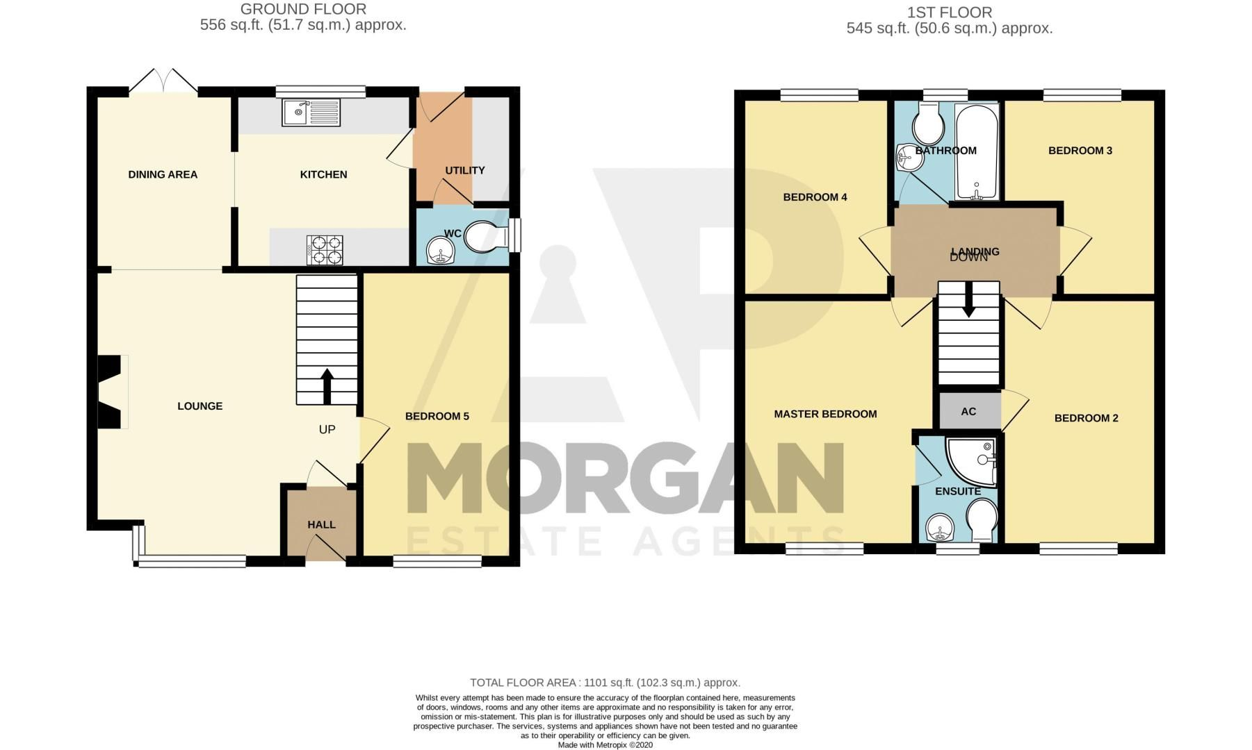 5 bed house for sale in Pulman Close - Property Floorplan