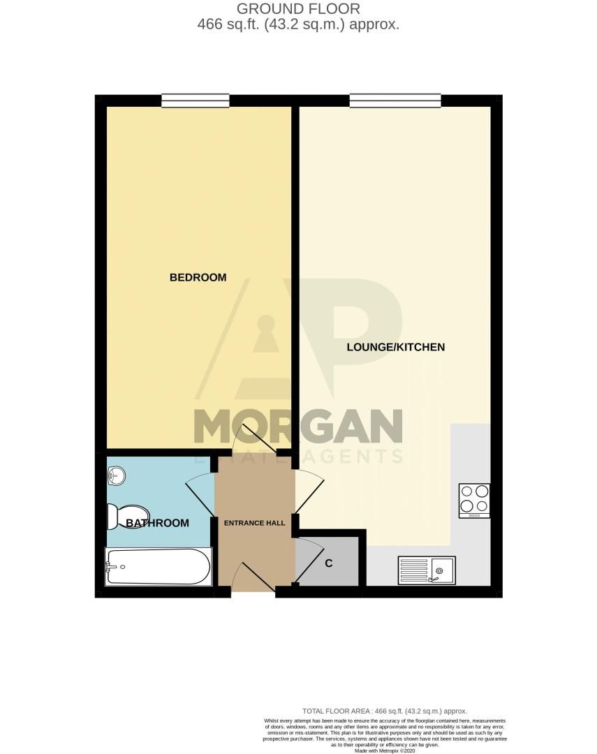 1 bed flat to rent in Waterfront West - Property Floorplan
