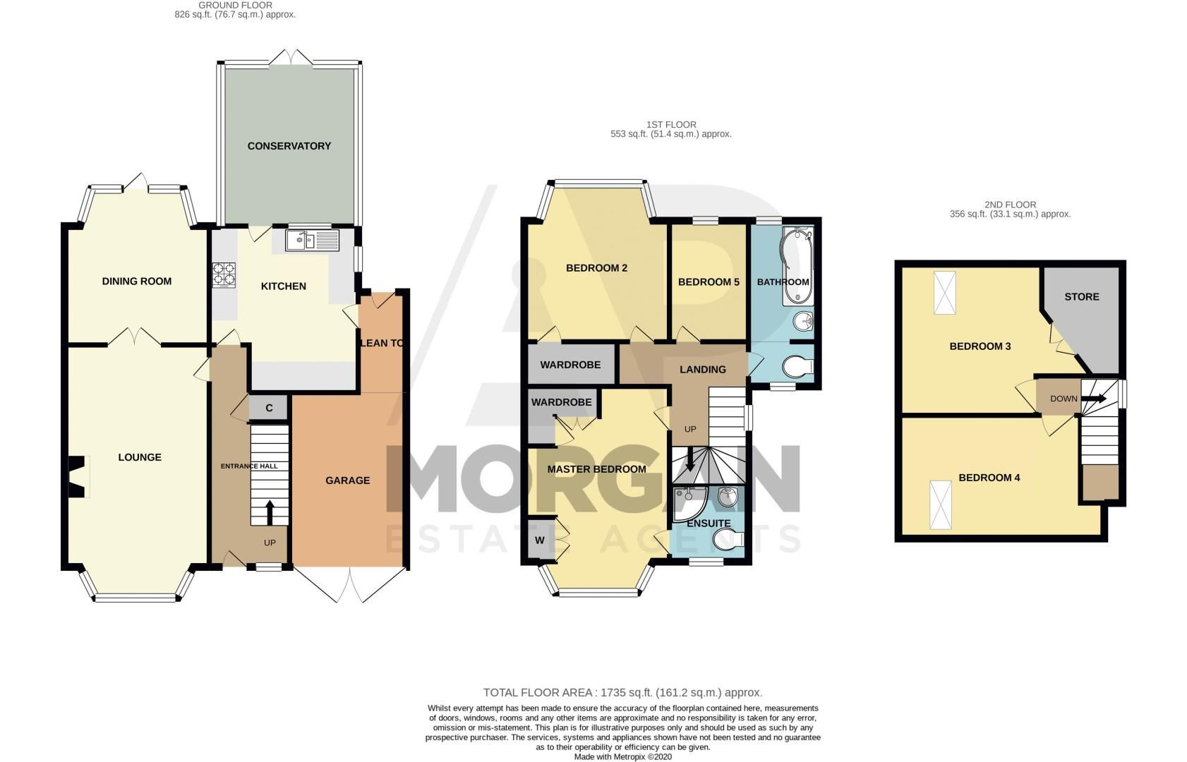 5 bed house for sale in Frankley Avenue - Property Floorplan