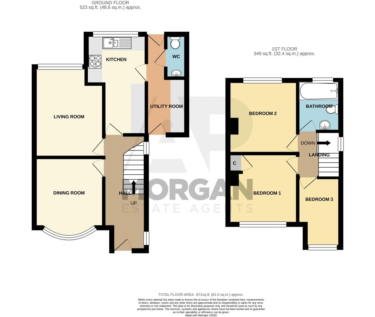 3 bed house for sale in Coney Green - Property Floorplan
