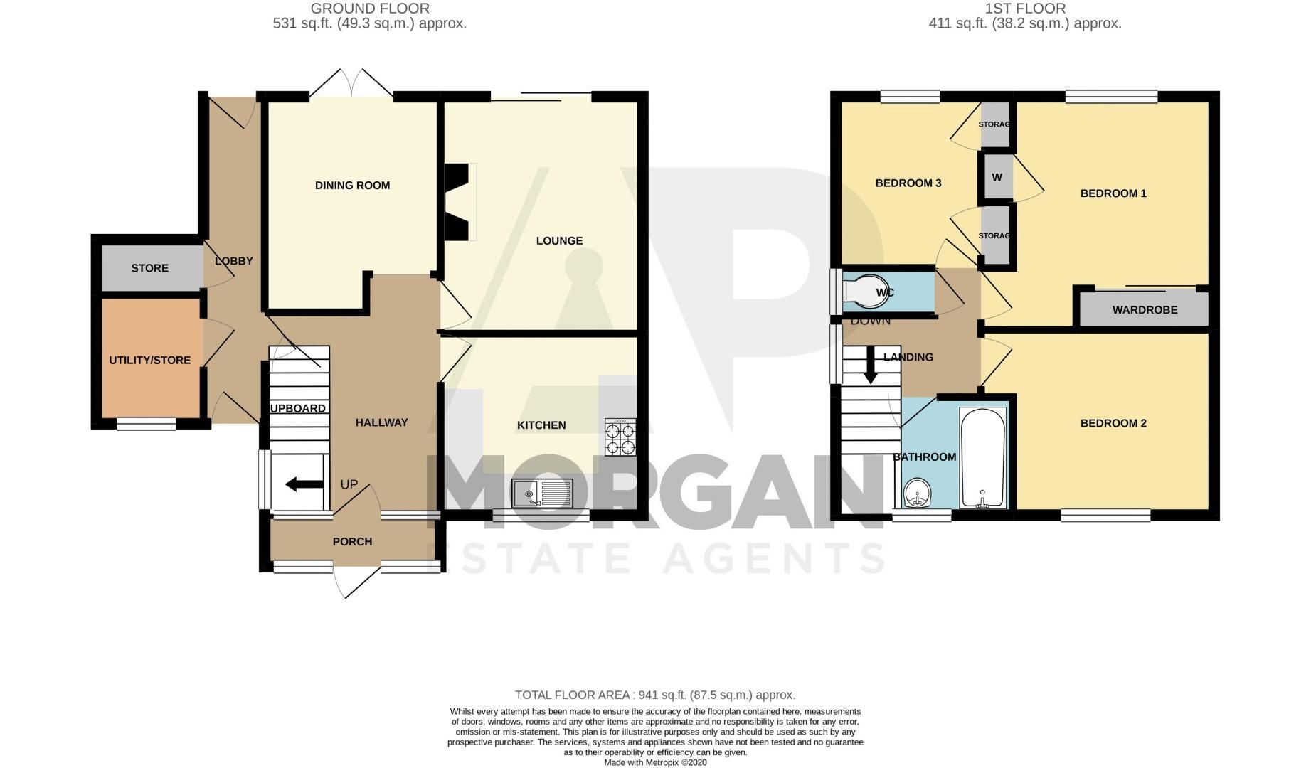 3 bed house for sale in Lincoln Road - Property Floorplan