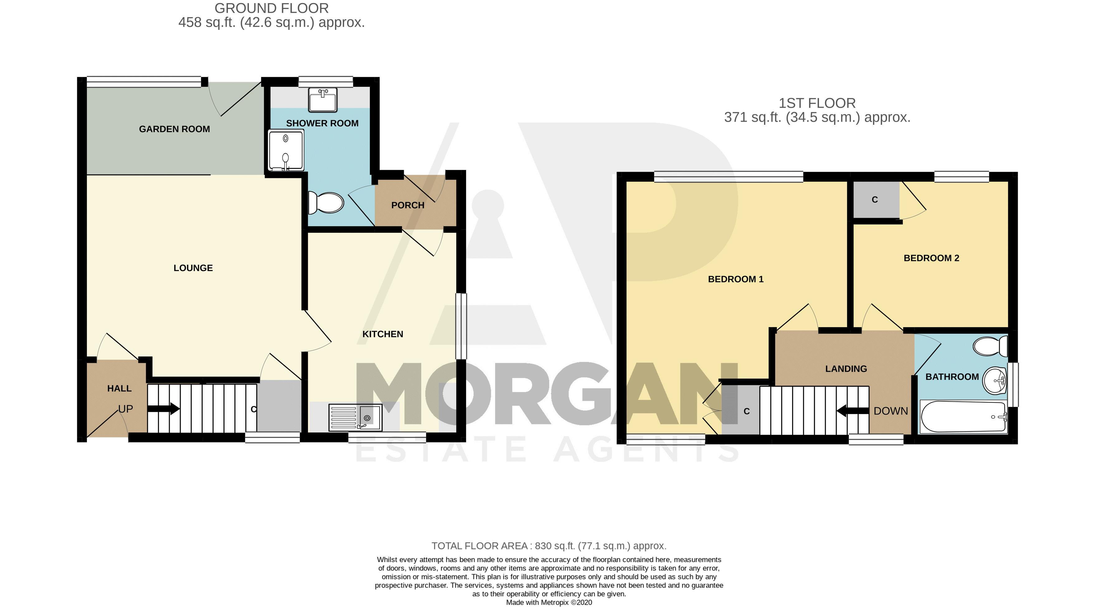 2 bed house for sale in Coppice Avenue - Property Floorplan