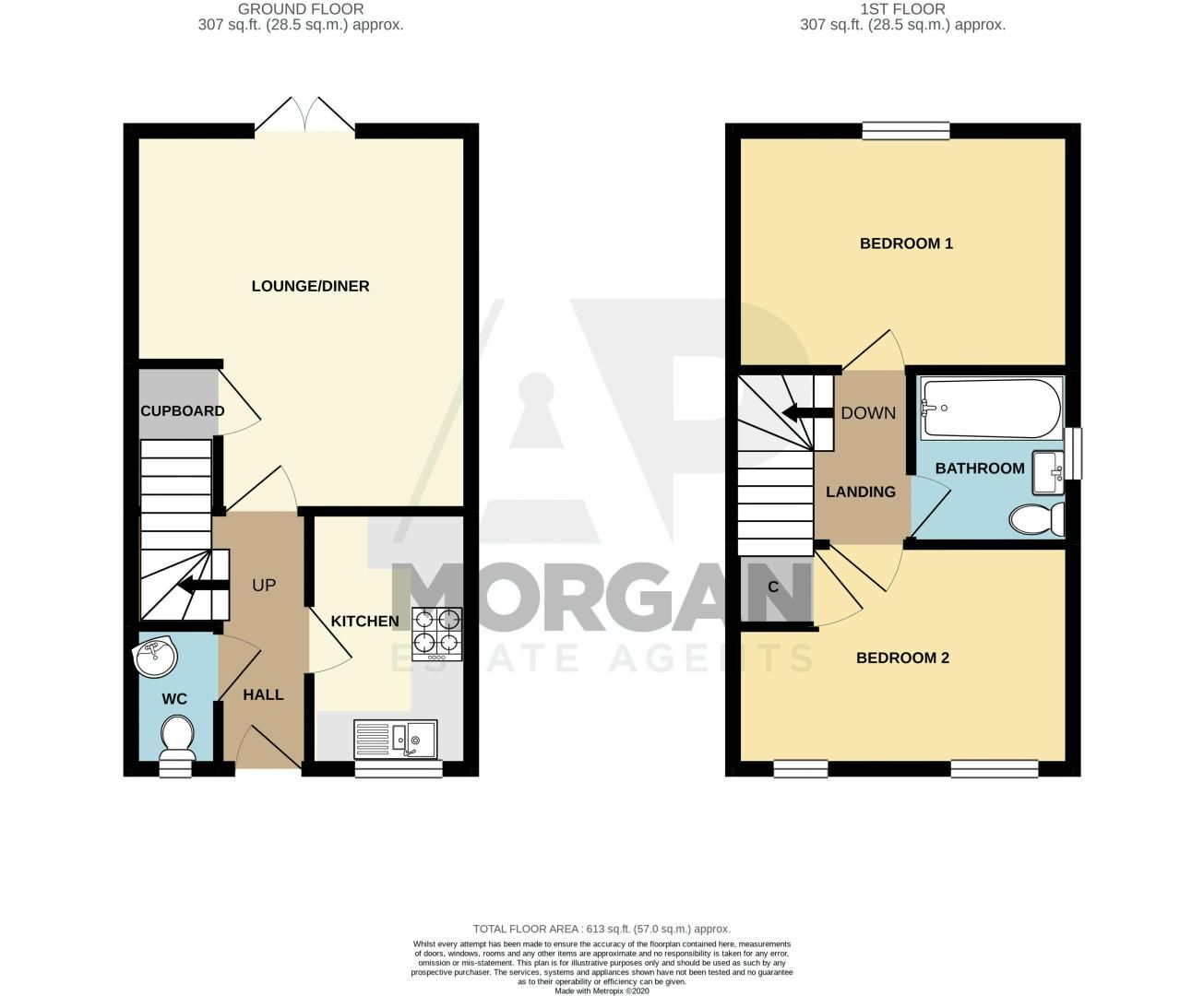 2 bed house for sale in Hurricane Avenue - Property Floorplan
