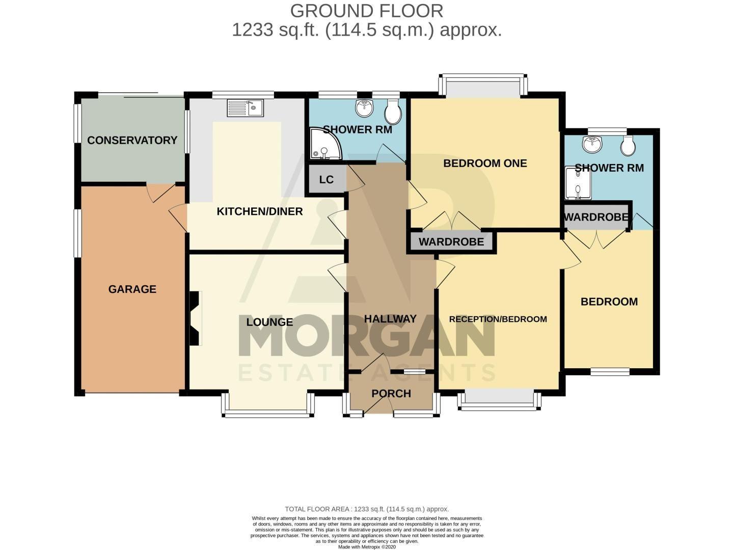 2 bed bungalow for sale in Ridings Lane - Property Floorplan