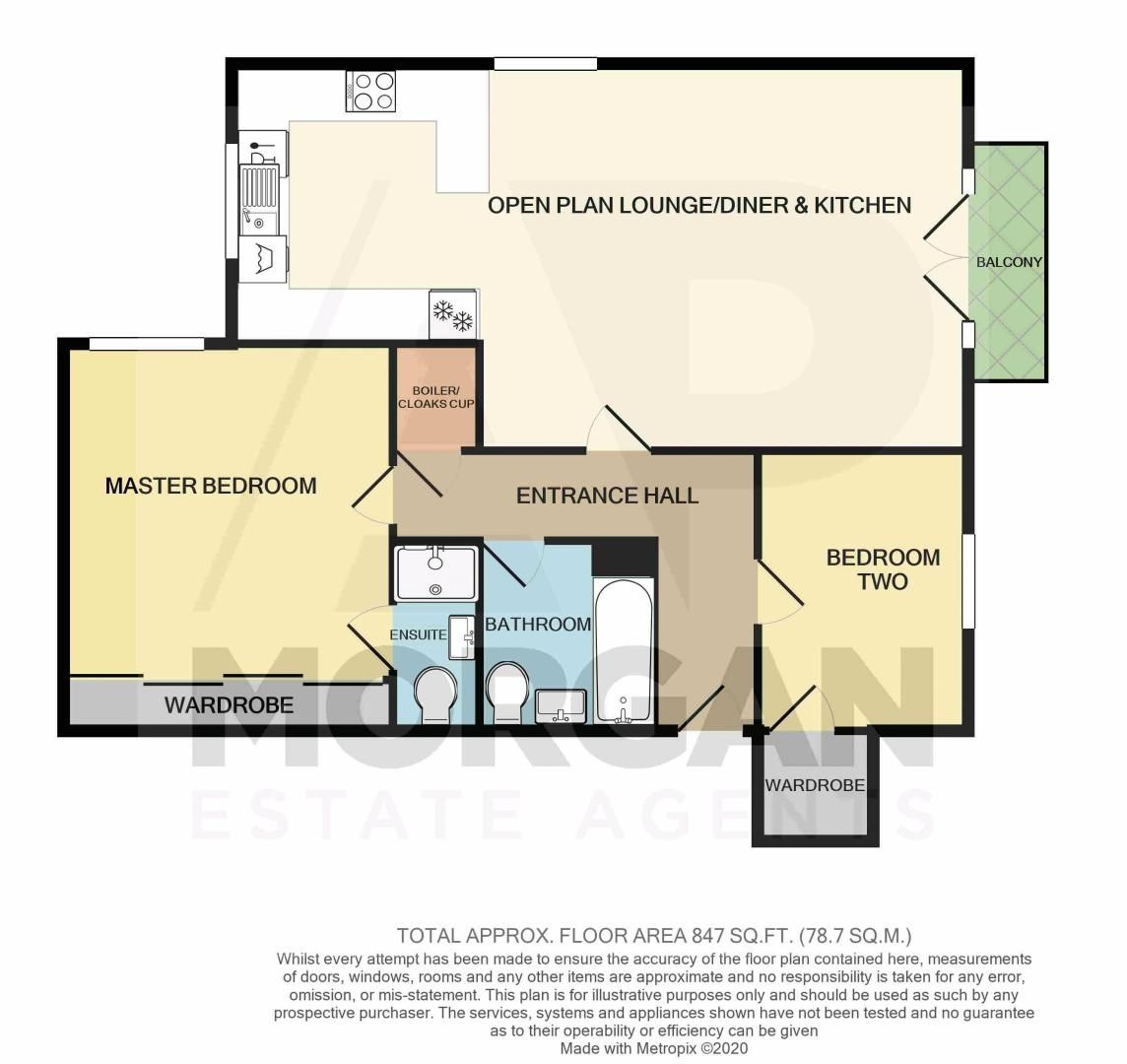 2 bed flat for sale in Brookes Close - Property Floorplan