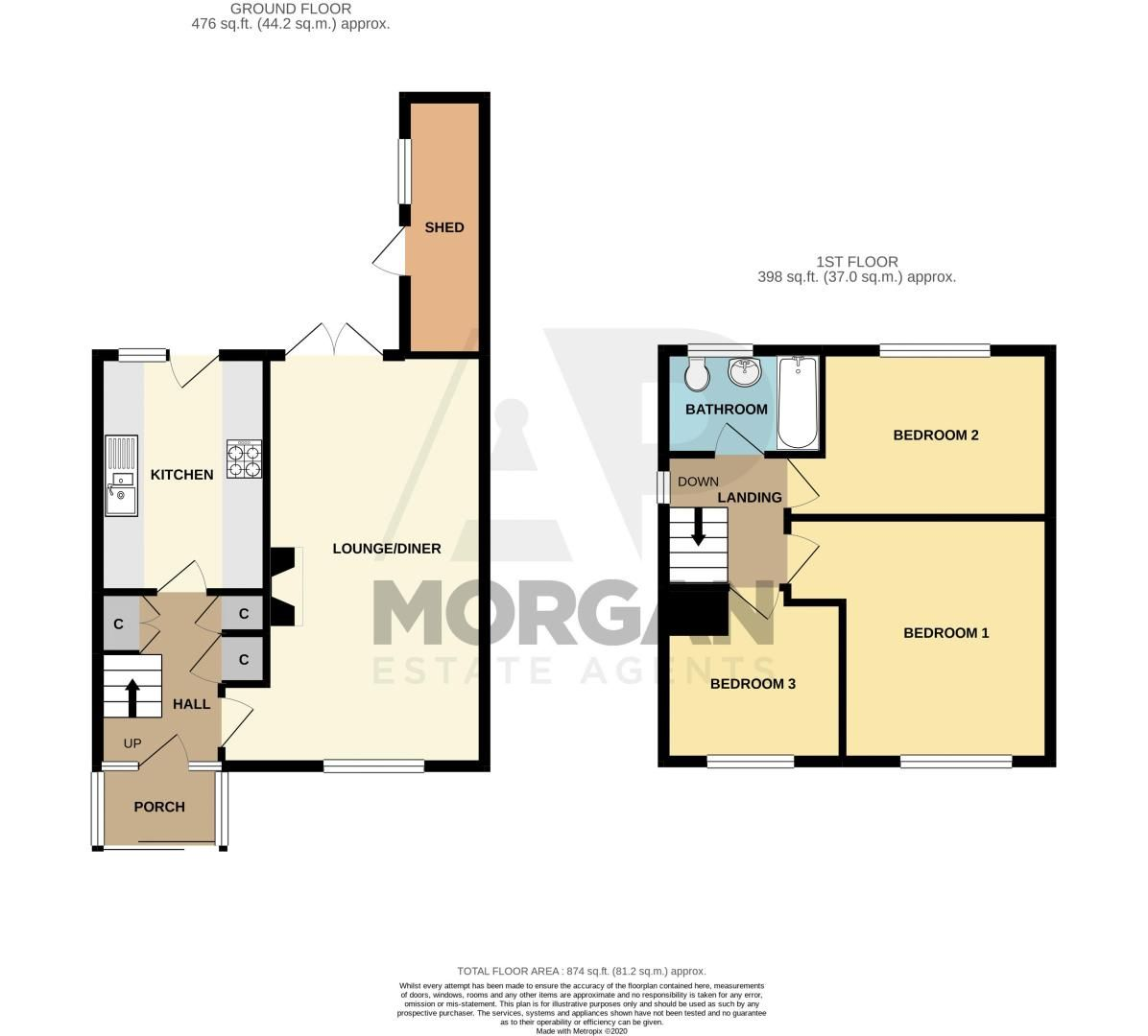 3 bed house for sale in Breakback Road - Property Floorplan