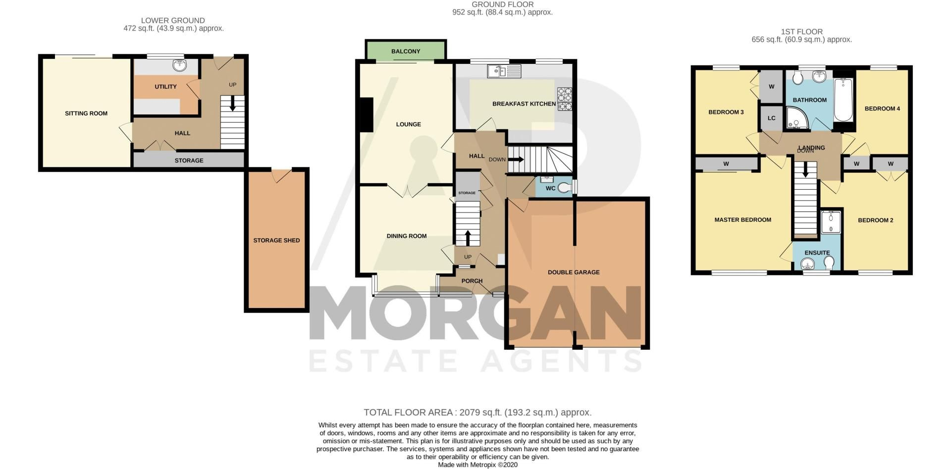 4 bed house for sale in Weatheroak Close - Property Floorplan