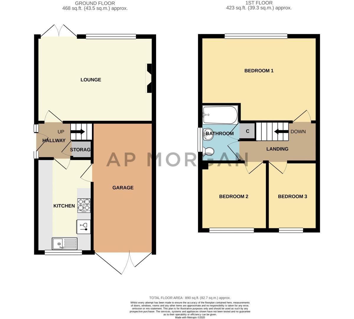 3 bed house for sale in Grampian Road - Property Floorplan